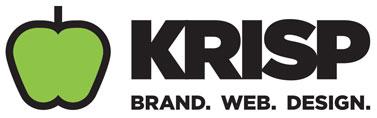Krisp brand web design logo