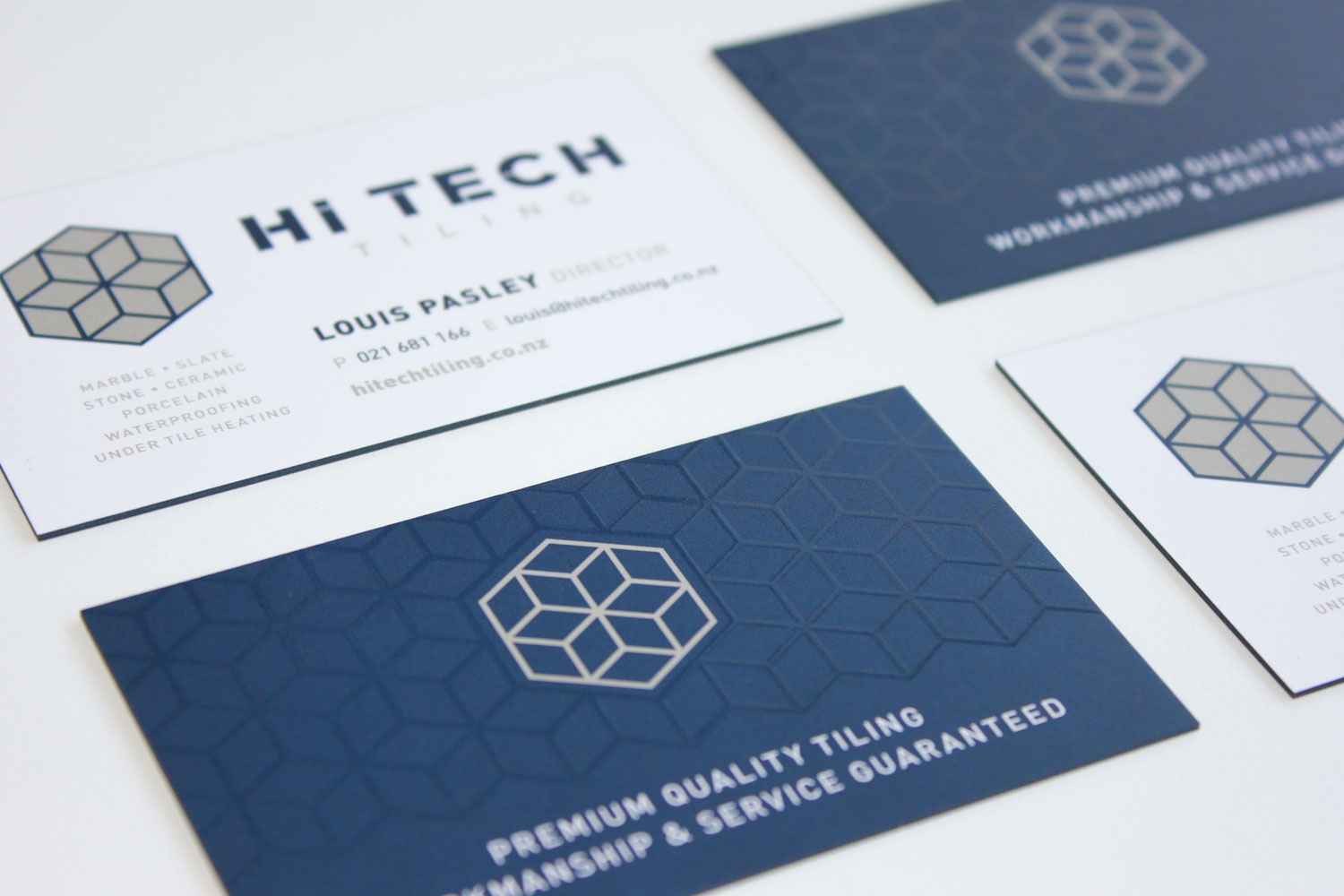 Branding / Business Card- Hi Tech Tiling, Auckland