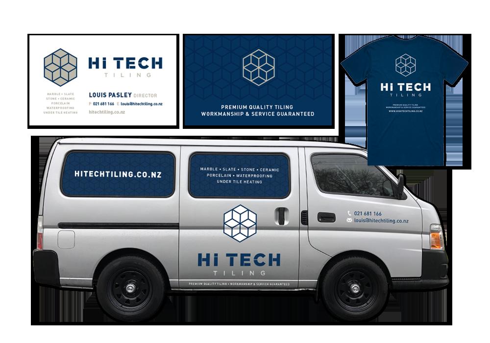 company-branding-logo design - Hi Tech Tiling, Auckland