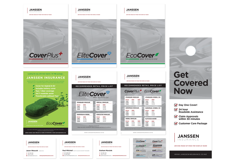 corporate design branding - Janssen insurance auckland