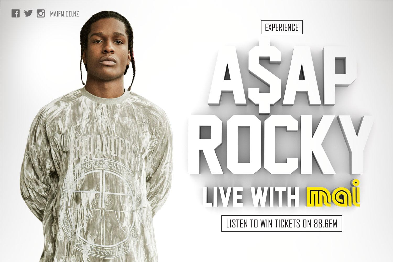 Billboard design - Mai FM A$AP Rocky - Auckland